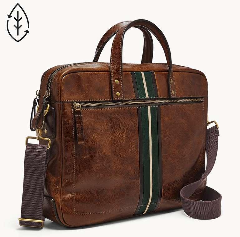 Fossil Herren Tasche Haskell Double Zip Arbeitstasche in Braun für 146,30€ inkl. Versand (statt 180€)