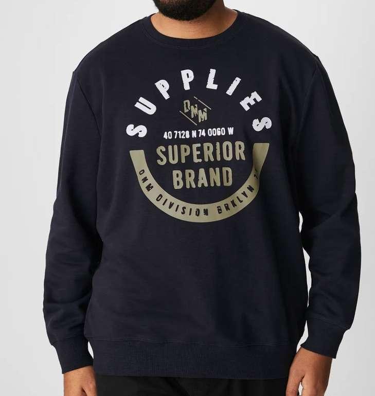 C&A Sweatshirt aus Bio-Baumwolle mit Rundhalsausschnitt für 11,24€(statt 25€) - Größe XXL bis 6XL!