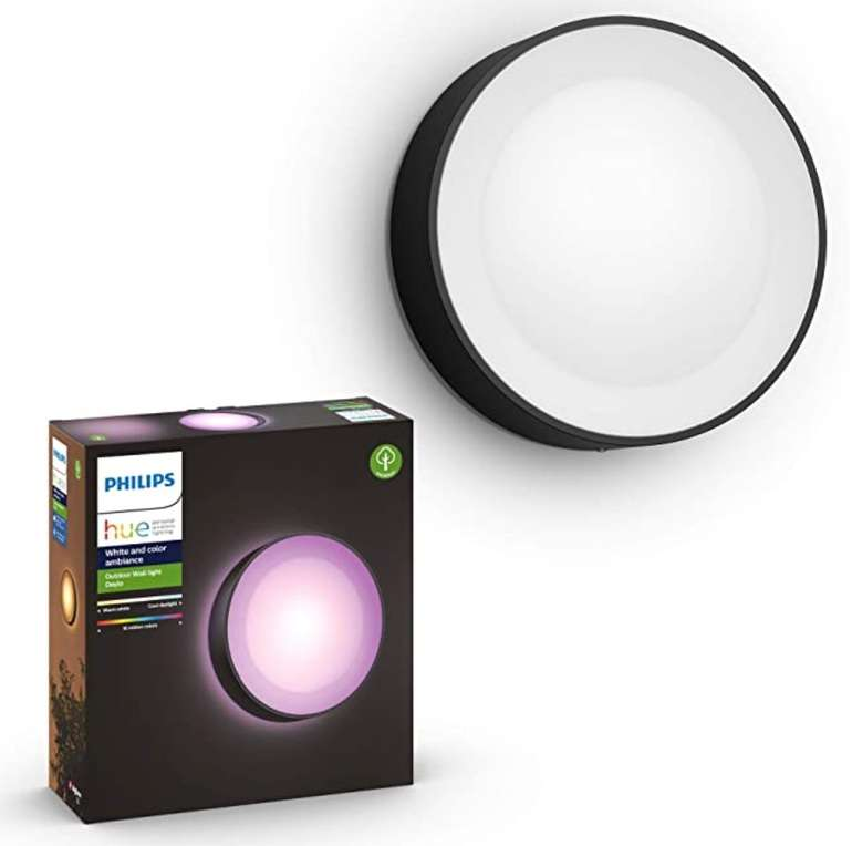 Philips Hue White & Color Ambiance Daylo LED Outdoor-Wandleuchte (IP44, Aluminiumgehäuse) für 87,14€