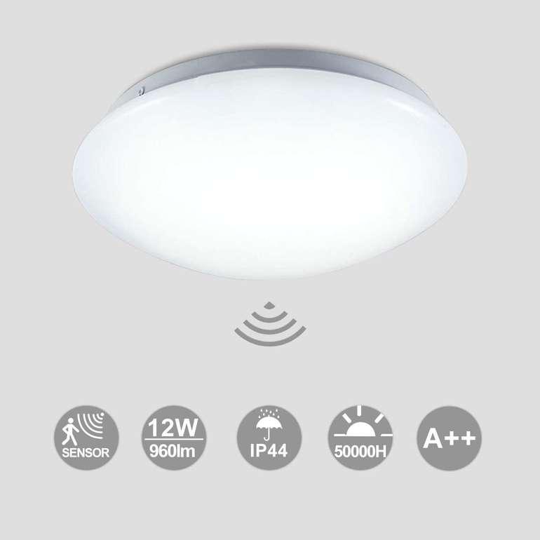 Hengda warmweiße LED Deckenleuchte (Bewegungssensor, 12W, 24cm) für 18,19€ inkl. VSK (statt 26€)