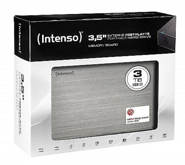 Intenso Memory Board mit 3TB (3,5 Zoll, USB3.0) für 59,99€inkl. Versand (statt 67€)