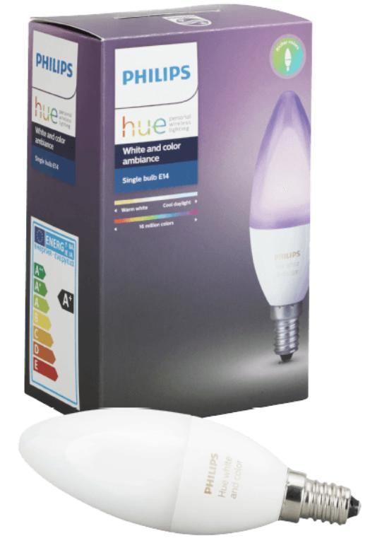 Philips Hue White & Color Ambiance E14 LED Birne für 33€ inkl. VSK (statt 43€)