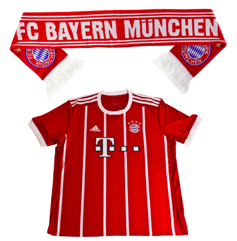 FC Bayern Fussball Fan-Set (Trikot Home XL 2017/18 + Schal) für 29,90€