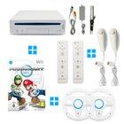Nintendo Wii + Mario Kart + je 2 Remotes, Nunchuks & Lenkräder für 79,99€