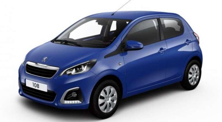 Privat- und Gewerbeleasing: Peugeot 108 mit 72 PS in blau für 77,77€ mtl. (LF: 0,53)