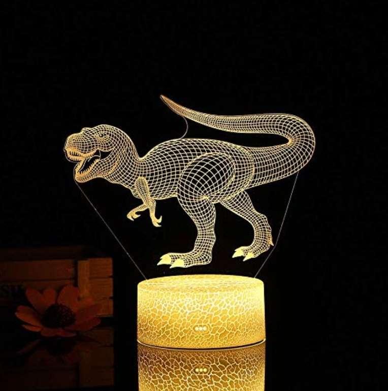 Ltteny 3D Dinosaurier Nachtlicht mit Fernbedienung und 7 wechselnden Farben für 10,99€ (Prime)