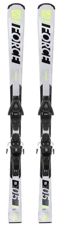 Salomon E S/Force 5 + L10 GW L90 Allmountain Ski mit Bindung in weiß für 151,48€ inkl. Versand (statt 245€)