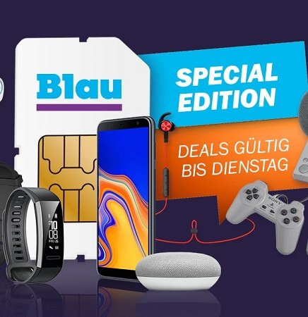 Blau L AllNet-Flat (3GB LTE) inkl. diverser Hardware für 7,99€ pro Monat