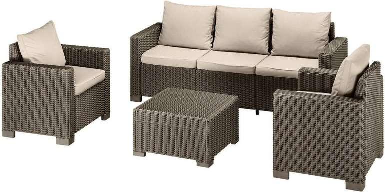 4-tlg. Gartenmöbel-Set Mombasa Polyrattan (Cappuccino/Sand) für 468,84€ inkl. Versand (statt 575€)