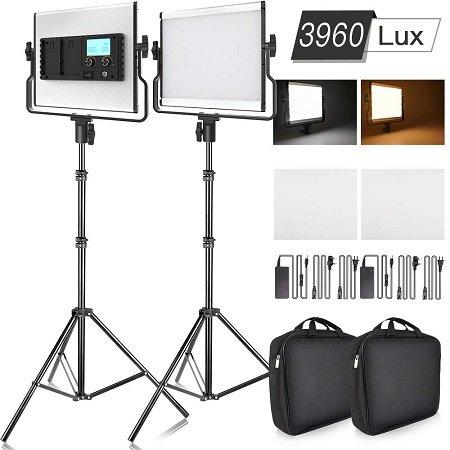 Doppelpack SAMTIAN L4500 Video Licht mit LCD-Display für nur 125,99€