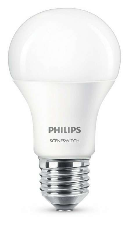 8x Philips 2-in-1 LEDs SceneSwitch (EEK A+, E27, Warm to Cool) für 18,99€ inkl. Versand