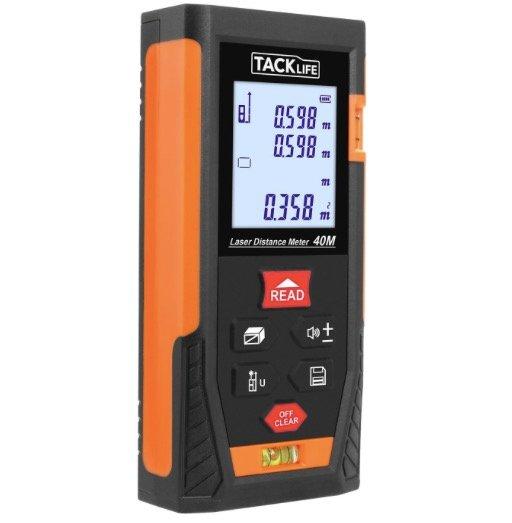 Tacklife HD 40 Laser-Entfernungsmesser (Messbreich 0,05~40m/±2mm) für 18,99€