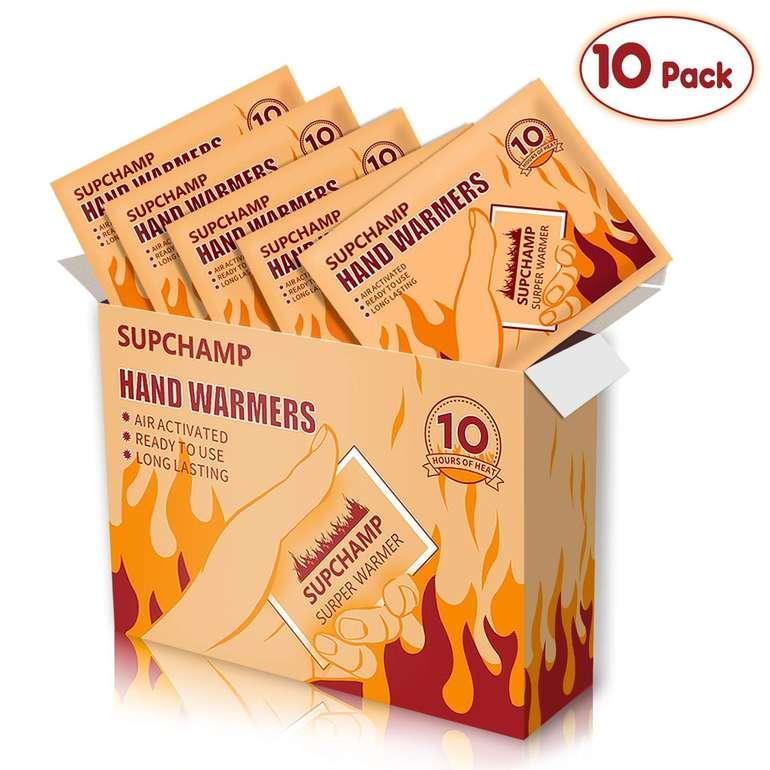 10er Pack Supchamp Einweg Handwärmer für 6,49€ inkl. Prime VSK (statt 9€)