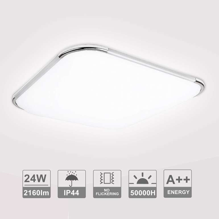 Hengda LED Leuchten mit Rabatt, z.B. 24W eckig für 18,89€