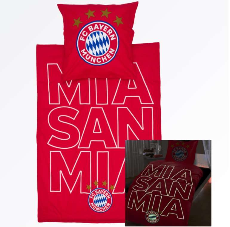 """FC Bayern München Bettwäsche """"Glow mia san mia"""" für 29,95€ (statt 44€)"""