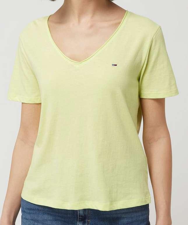 Tommy Jeans Damen T-Shirt aus Bio-Baumwolle in Gelb für 15,99€ inkl. Versand (statt 26€)