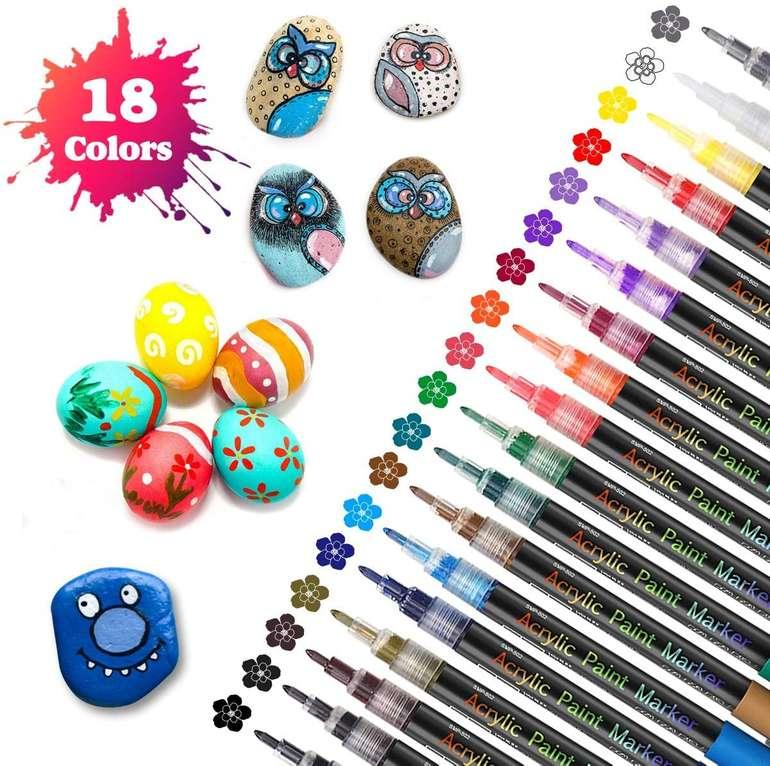 Sawake wasserfeste Acrylstifte in 18 Farben für 10,19€ inkl. Prime Versand (statt 12€)