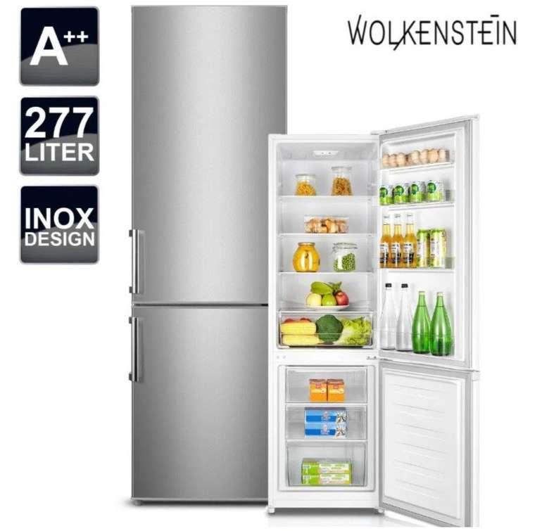 Wolkenstein KGK 280 A+++ Kühlgefrierkombination in Edelstahl für 333,33€ inkl. Versand (statt 409€)