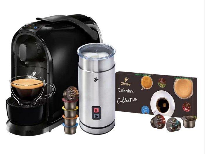 Tchibo Cafissimo Pure + externer Milchaufschäumer + 8 Kapseln für 49€ inkl. Versand (statt 64€)