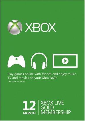 12 Monate Xbox Live Gold Mitgliedschaft für nur 30,59€ (statt 39€)