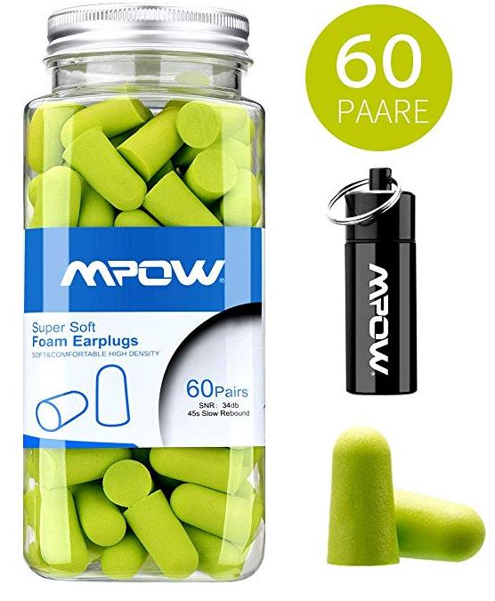 Mpow weiche Gehörschutzstöpsel 60 Paar für 8,99€ inkl. Prime Versand (statt 12€)