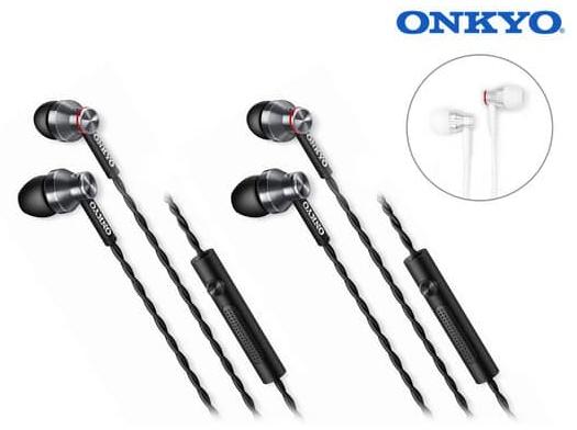 2er Pack Onkyo E300M In-Ear-Kopfhörer für 29,95€ inkl. Versand (statt 70€)