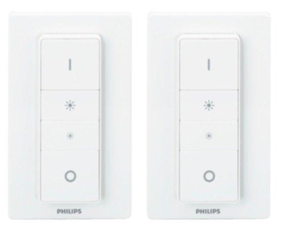 Philips Hue Dimmschalter (2er-Pack) in weiß - Schalter & Dimmer ab 27,55€ (statt 37€) - NL-Gutschein!