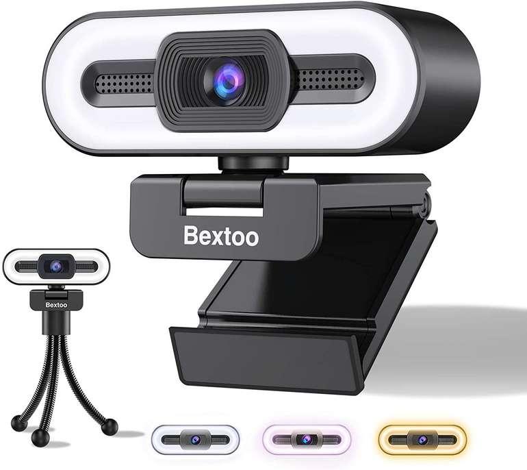 Bextoo 1080P Webcam mit integriertem Ringlicht für 25,97€ inkl. Versand (statt 40€)