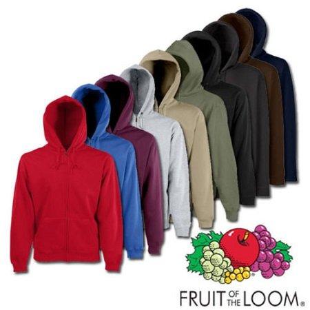 Fruit of the Loom Classic Hooded Sweatjacke mit Reißverschluß für 9,99€