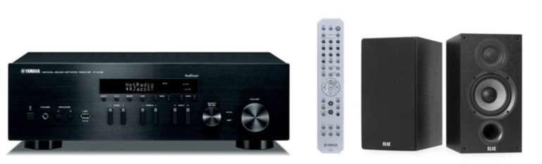 Yamaha Elac Stereo HiFi Paket: Netzwerk Receiver + Regallautsprecher für 486,42€ (statt 493€)