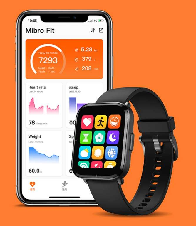 Mibro Color Smartwatch (5 ATM wasserdicht, Blood Oxygen, 14 Tage Akkulaufzeit) für 28,93€inkl. Versand (statt 34€)