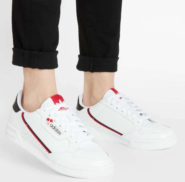 """Adidas Originals Sneaker """"Continental 80"""" in Weiß/Rot für 49,95€inkl. Versand (statt 60€)"""