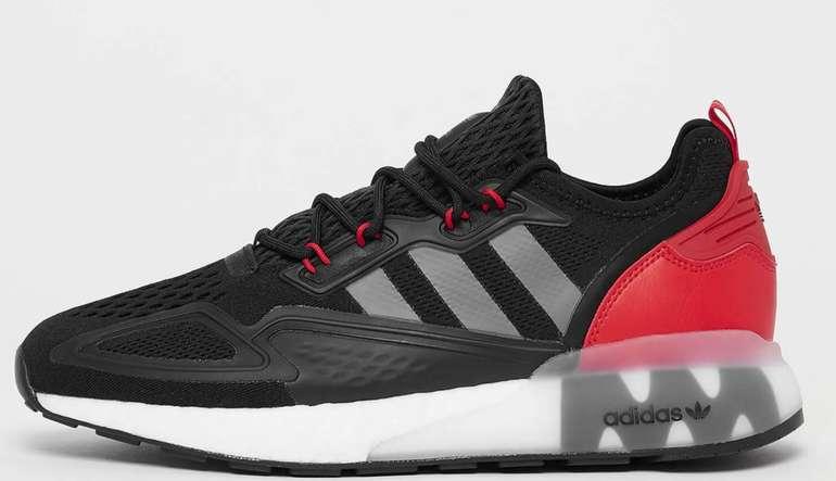 adidas ZX 2K Boost Herren Sneaker in Core-Black/Rot für 52,99€inkl. Versand (statt 70€)