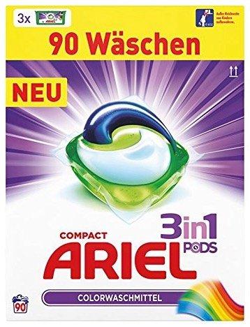 Ariel 3 in 1 Pods Color-/ Vollwaschmittel (90 Waschl.) für 14,99€ mit Prime!