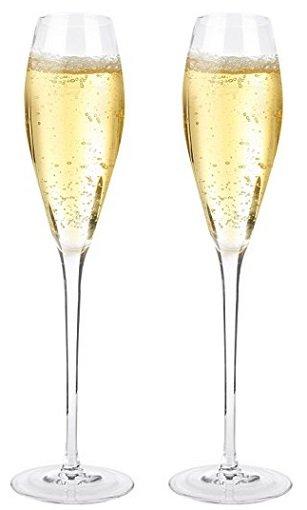 2er Pack Doctor Hetzner Kristall Champagnergläser für 7 inkl. VSK
