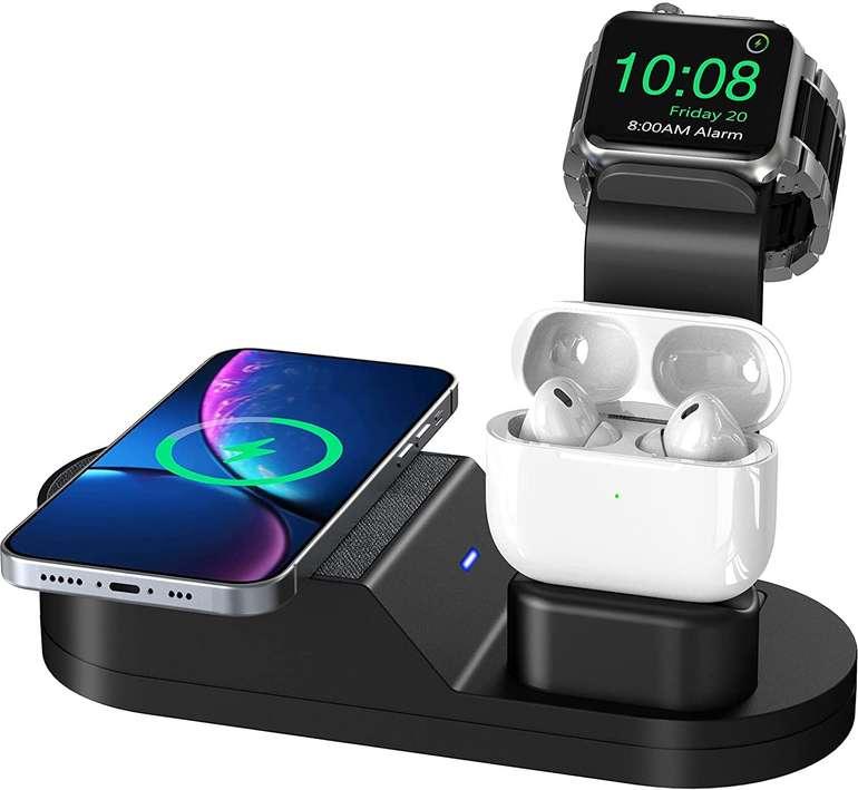 Todamay 3 in 1 induktive Ladestation für Apple Watch, Airpods, Smartphone für 9,99€ inkl. Prime Versand (statt 28€)
