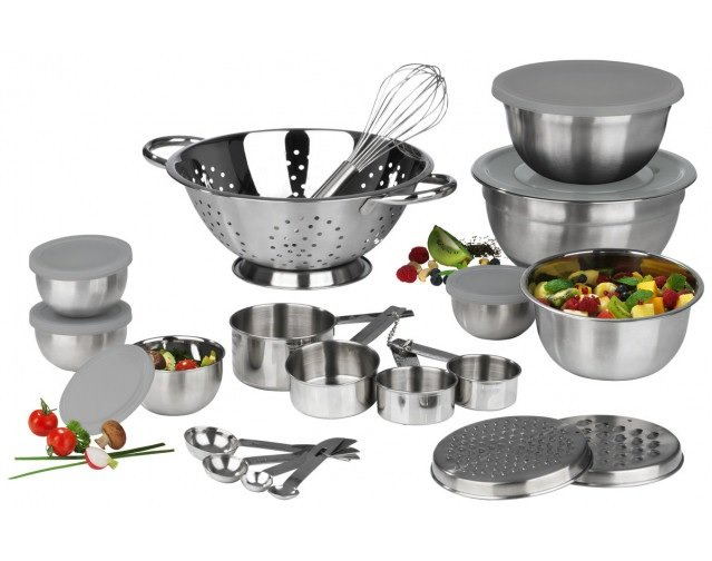 Maxxmee Küchen-Set 27-tlg. Edelstahl für 21,49€ inkl. Versand (statt 24€)