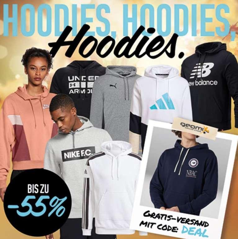 Geomix: Hoodie Sale bis zu 55% Rabatt + VSKfrei - z.B. Nike Kapuzenpullover für 38,46€ (statt 55€)