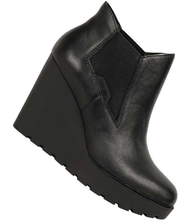 Calvin Klein Jeans Sydney Nappa Damen Stiefeletten in schwarz für 43,94€ inkl. Versand (statt 100€)