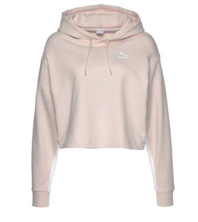 Puma Kapuzensweatshirt in Beige (Damen) für 21,49€ inkl. Versandkosten (statt 47€)