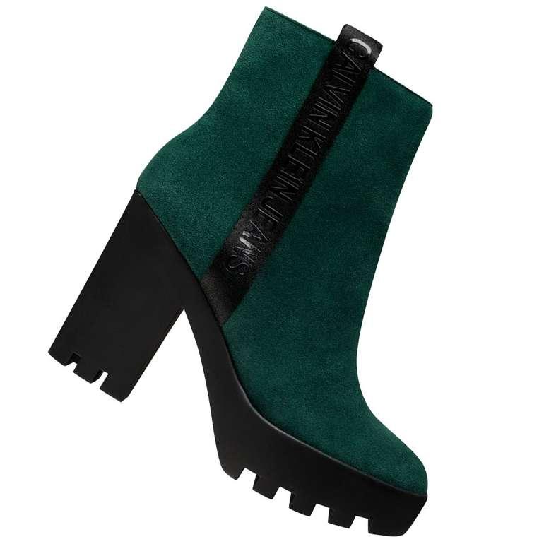 Calvin Klein Jeans Serina Damen High Heel Stiefeletten in Grün für 59,99€ inkl. Versand (statt 75€)