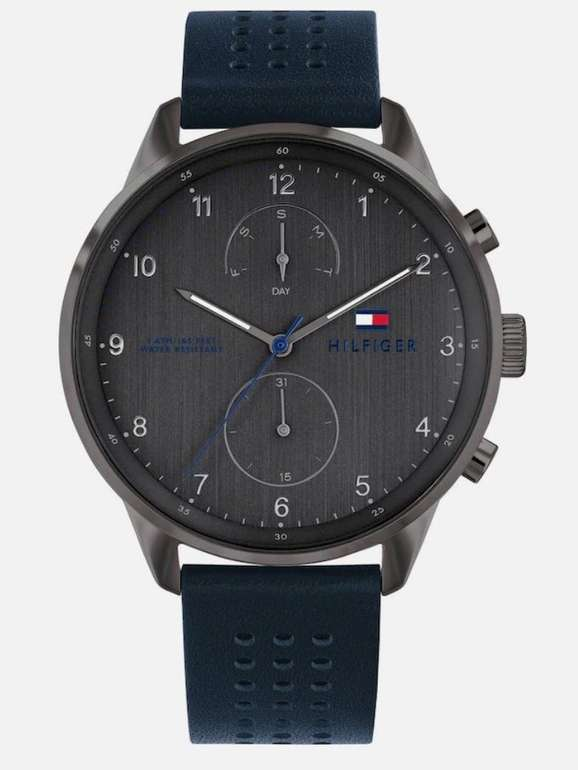 Tommy Hilfiger 'Casual 1791578' Armbanduhr in navy / basaltgrau für 89,74€ (statt 101€)