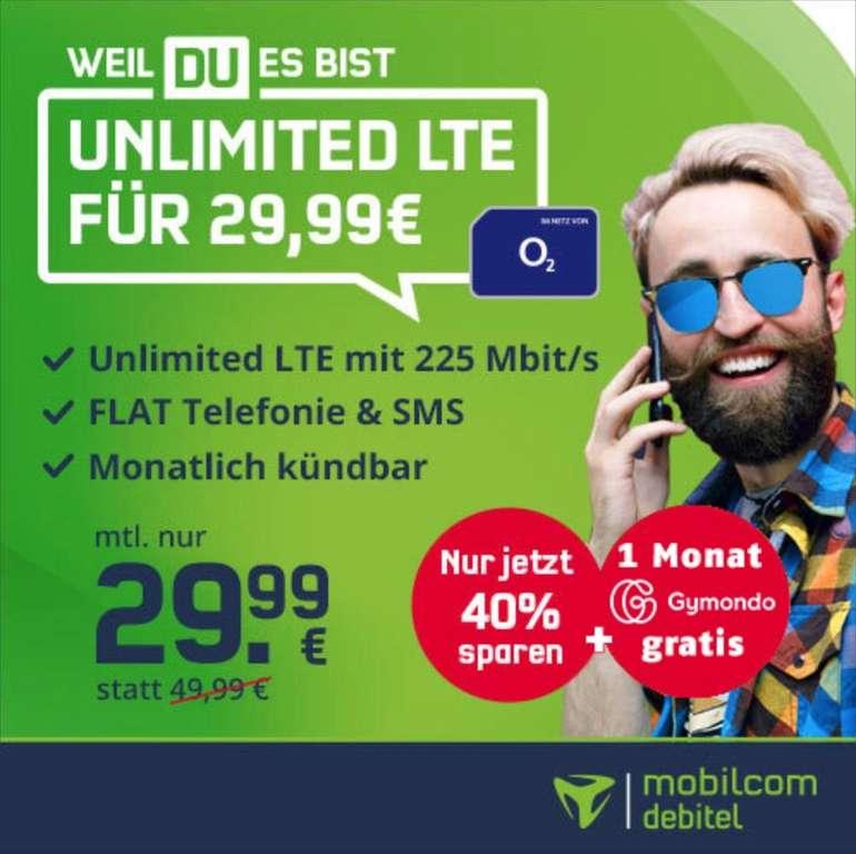Bis Morgen 18 Uhr: o2 Free Unlimited Max Allnet-Flat mit 225 Mbit/s für 29,99€ mtl. (monatlich kündbar!)