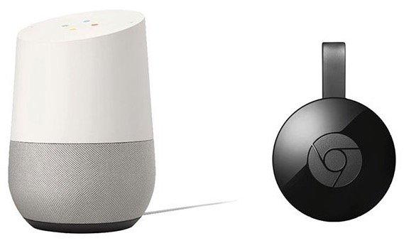 Google Home Lautsprecher + Google Chromecast (2015) für 148,99€ inkl. Versand