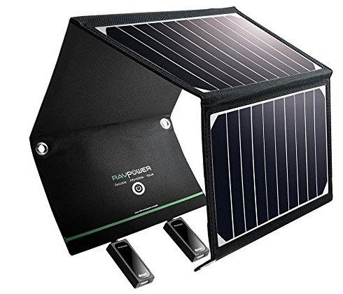 RAVPower 16W Solarladegerät mit 2 iSmart-USB-Ports für 34,99€ (statt 46€)