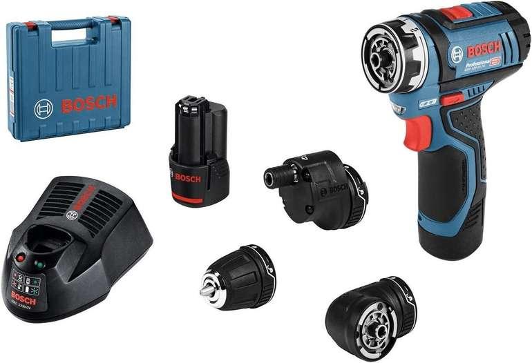 Bosch Akku-Bohrschrauber GSR 12V-15 FC Professional (2x2,0Ah + 3 Aufsätze + Koffer + Ladegerät) für 155,15€ inkl. Versand