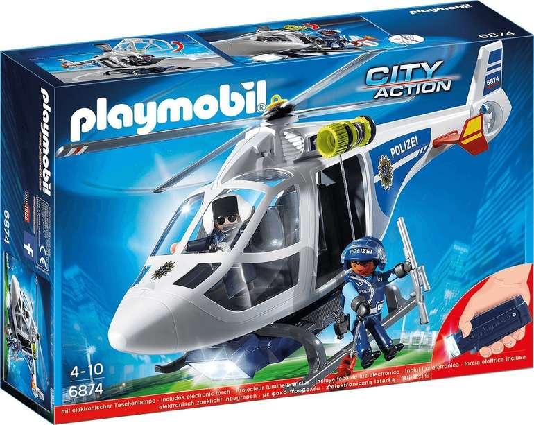 Playmobil 6874 City Action - Polizei-Helikopter mit LED-Suchscheinwerfer für 20,12€ inkl. Versand (statt 26€)