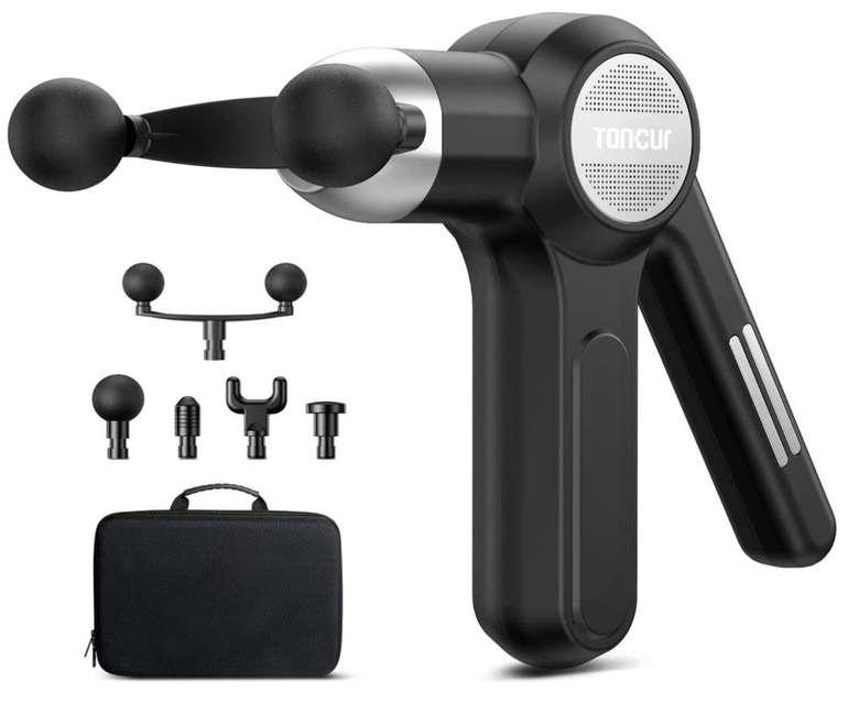 Toncur Professional MG-021 Massagepistole mit 6 Geschwindigkeitsstufen und 5 Massageköpfen für 41,99€