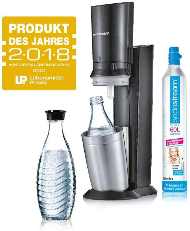 SodaStream Crystal 2.0 Wassersprudler mit CO2-Zylinder und 2x Glaskaraffen für 49,99€ (statt 80€) - B-Ware!