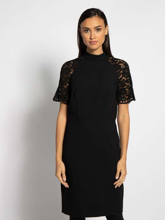 Esprit Kleid mit Spitze in schwarz für 40,45€ inkl. Versand (statt 47€)